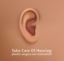 Vector Human Ear. Hearing Trea...