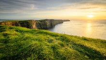 Moher Cliffs And Atlantic Ocea...
