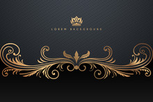 Ornate Black And Gold Luxury B...