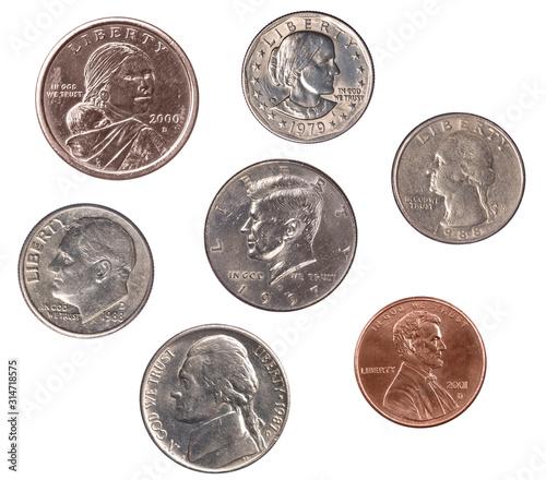Fototapeta Set of U.S. Coins