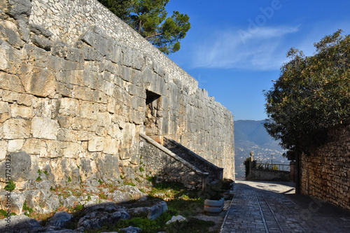 The cyclopean walls of an ancient acropolis in an Italian town Canvas Print