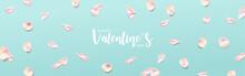 Valentine's Day Banner. Pink R...