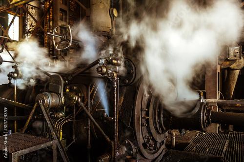 Fotografia Engine of sugar mill