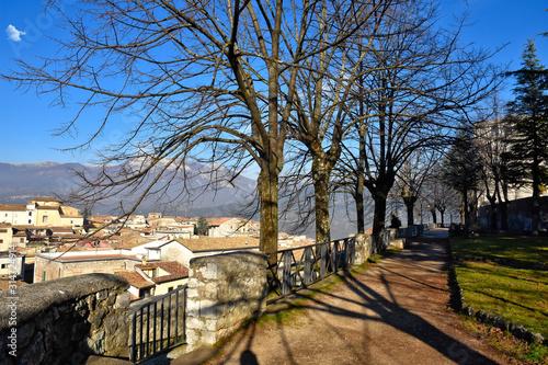 Photo View of a medieval Italian town in the Lazio region