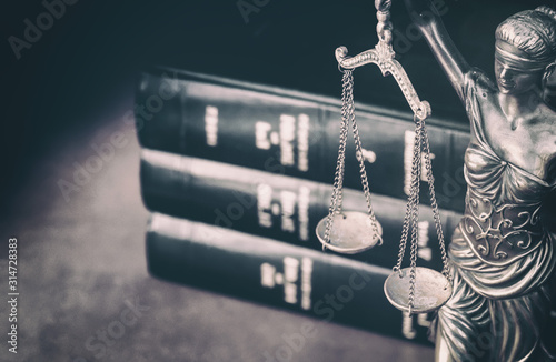 Leinwand Poster Scales of Justice  legal law books concept imagery