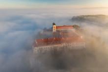 Tyniec In The Fog, Cracow, Pol...