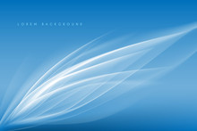 Abstract White And Blue Lines ...