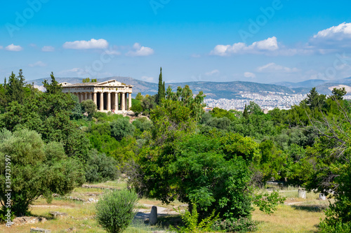 Photo  Temple of Hephaestus in Agora, Athens