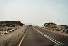 Empty Road Through The Desert ...