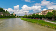Austria - River Between the Churches - Salzburg