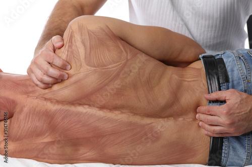 Photo Chiropractic back adjustment
