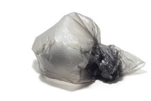 Crumpled Plastic Bag On A Whit...