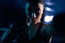 Woman Fighting In Sports Banda...