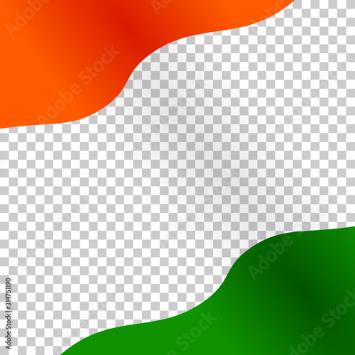 Photo Background of the waving national flag of India for social media post