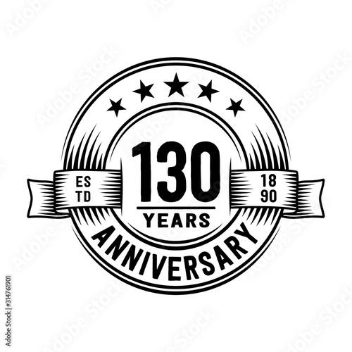 Cuadros en Lienzo 130 years anniversary celebration logotype