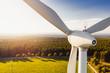 Leinwandbild Motiv Wind Turbines Windmill Energy