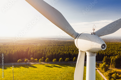 Obraz Wind Turbines Windmill Energy - fototapety do salonu