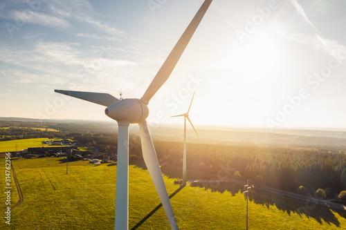 Fotografia Wind Turbines Windmill Energy