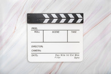 Flat Lay Of White Clapboard On...