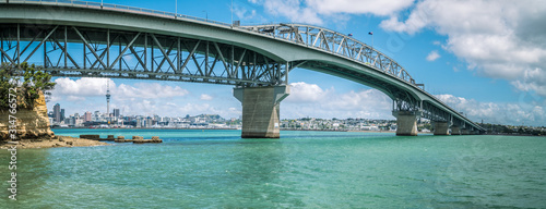 Photo Panaroma of the Harbour Bridge from the North Shore On a Bright Summers Day