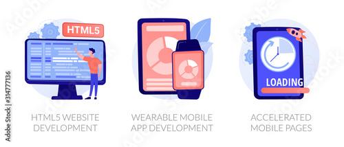 Web programming language, smart tech, app optimization Canvas Print