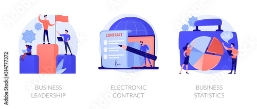 Fotomural Business icons set