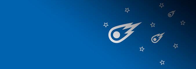 starry sky comet