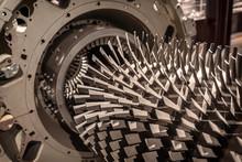 Industrial Production Metallic Turbine Background