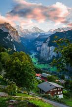 Sunset In Wengen Switzerland