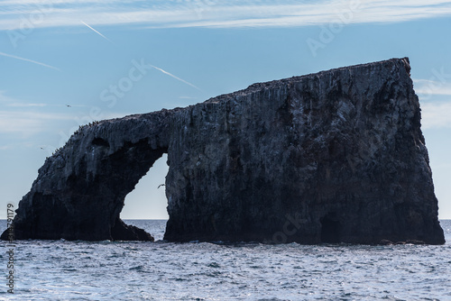 Fotografie, Obraz Anacapa Island, off the coast of Southern California, has a volcanic rock keystone arch located at the east end of the island