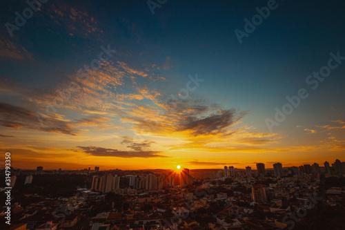Sunrise at city of Ribeirao Preto in Brazil Wallpaper Mural