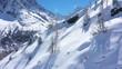 Paysage d'hiver vu par drone, Montenvers, Chamonix, France