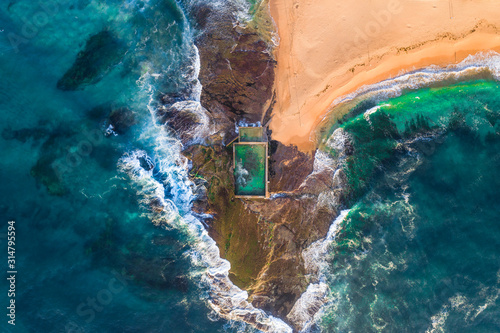 Aerial view of Sydneys Northern Beaches Canvas Print