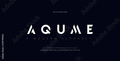 Fototapeta Abstract digital modern alphabet fonts. Typography technology electronic dance music future creative font. vector illustration obraz