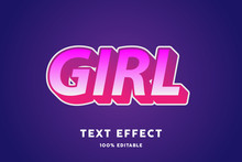 Pink Candy Text Effect, Editable Text