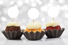 Cupcake Toppers Mockup With Th...