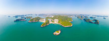 Aerial View: Clear Blue Sky At...
