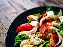 Tasty Salad - Vegetables , Fet...