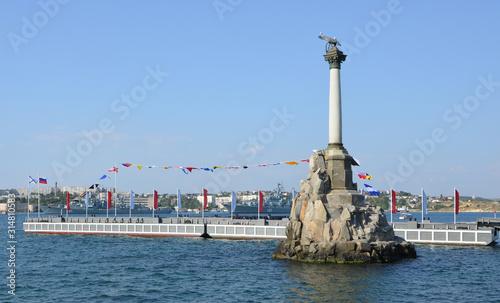 Fotografie, Obraz Monument to the Scuttled Ships. Sevastopol
