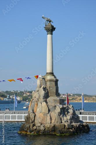 Obraz na plátně Monument to the Scuttled Ships. Sevastopol