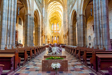 St. Vitus Cathedral Interiors In Prague Castle, Prague, Czech Republic