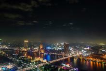 Cairo, Egypt The Skyline At Night.
