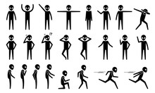 Basic Alien UFO Body Poses And...
