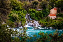 Stunning Krka National Park With Picturesque Waterfalls, Sibenik, Dalmatia, Croatia
