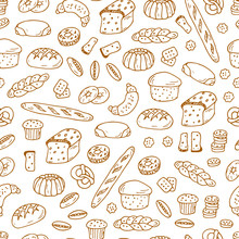 Hand Drawn Bakery Products And...