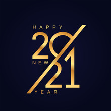 Happy New 2021 Year. Luxury El...