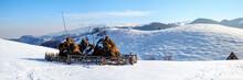 Winter Rural Scene With Snow C...