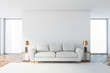 canvas print picture White living room interior with white sofa
