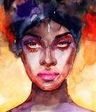 śliczna kobieta. ilustracja mody. Malarstwo akwarelowe - 314828755