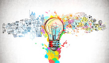 Bright Idea And Creative Think...